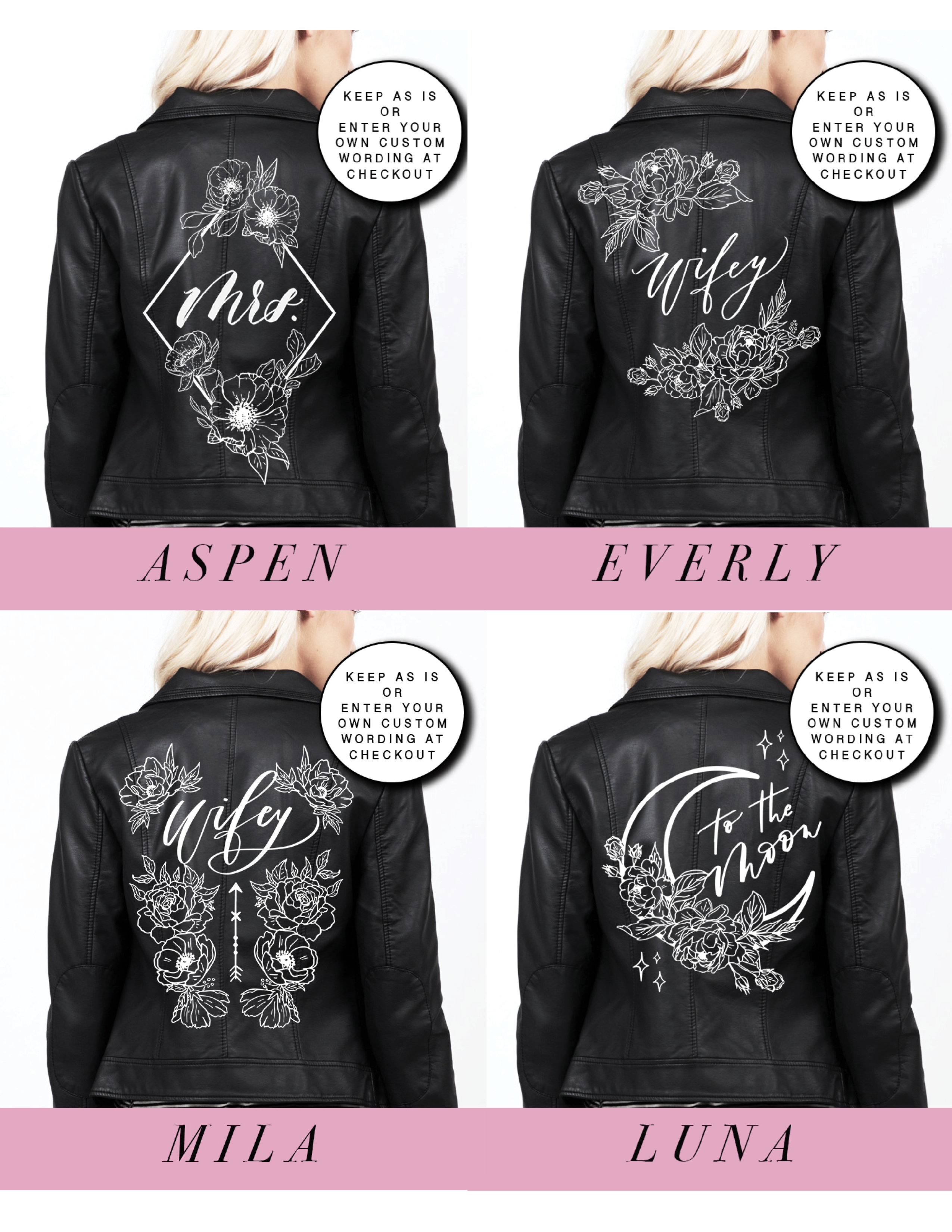 diy leather jacket kit, the bash box, bash creative design, how to diy painted leather jacket, 2019 wedding trends